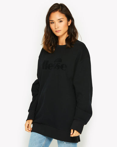 Caterina Crew Sweat Black
