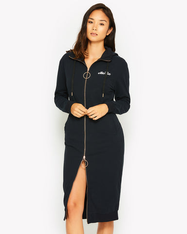 Anginetti Hooded Dress Black