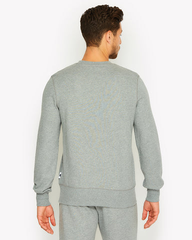 Amedeo Crew Sweat Grey Marl
