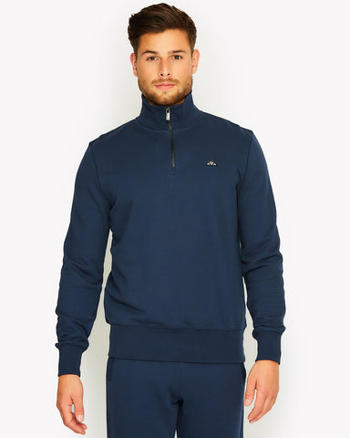 Amerigo 1/4 Zip Top Navy