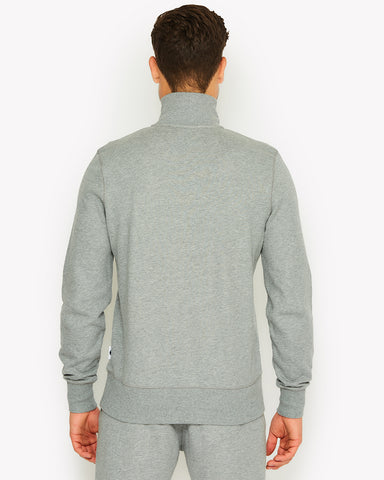 Amerigo 1/4 Zip Top Grey Marl