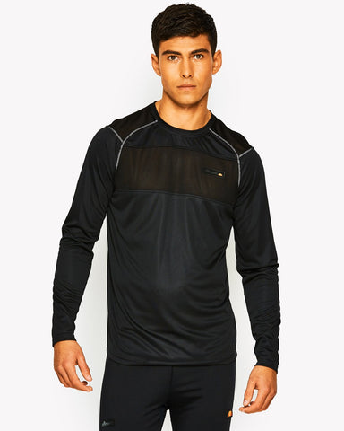 Radiate Poly Long Sleeve T-Shirt Black