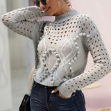 Hollow Out Thin Short Knit Sweater