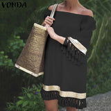 Off Shoulder Sun Dress Female