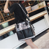 Double Pocket Casual Shoulder Bag