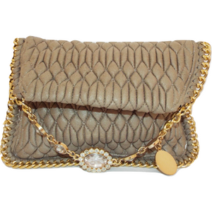 Mila Clutch Bag - Nude