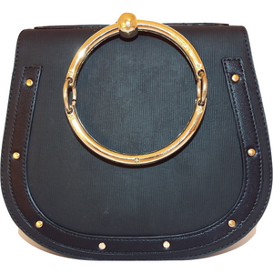 Ava Ring Crossbody Bag - Black