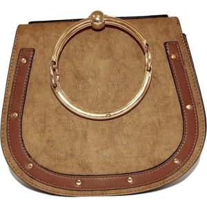 Ava Ring Crossbody Bag - Brown