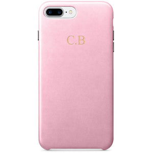 Pink PU LEATHER MONOGRAM PHONE CASE