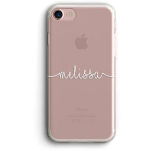 HANDWRITTEN NAME CLEAR PHONE CASE