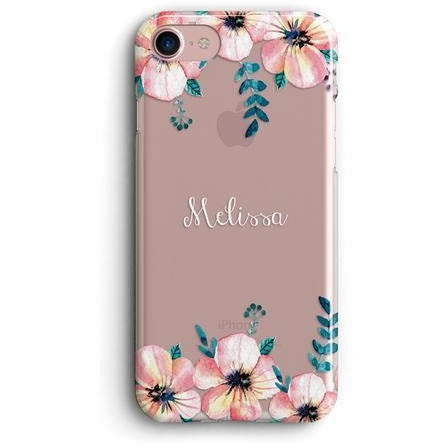 FLORAL NAME CLEAR PHONE CASE