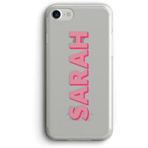 DROPSHADOW NAME CLEAR PHONE CASE