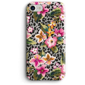 TROPICAL GARDEN FLOWERS CLEAR PHONE CASE