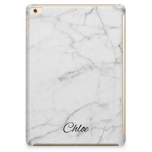 WHITE MARBLE MONOGRAM IPAD CASE