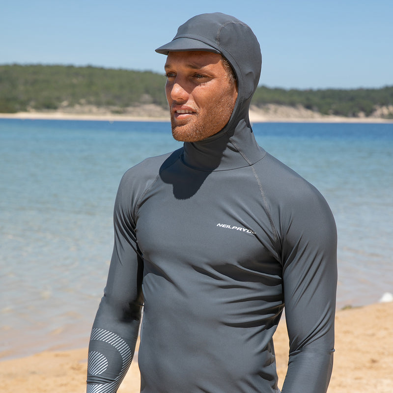 MISSION HOODED RASHGUARD L/S