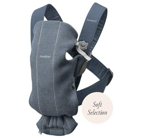 BabyBjorn Baby Carrier Mini Soft Collection - Dove Blue 3D Jersey - Scandibørn