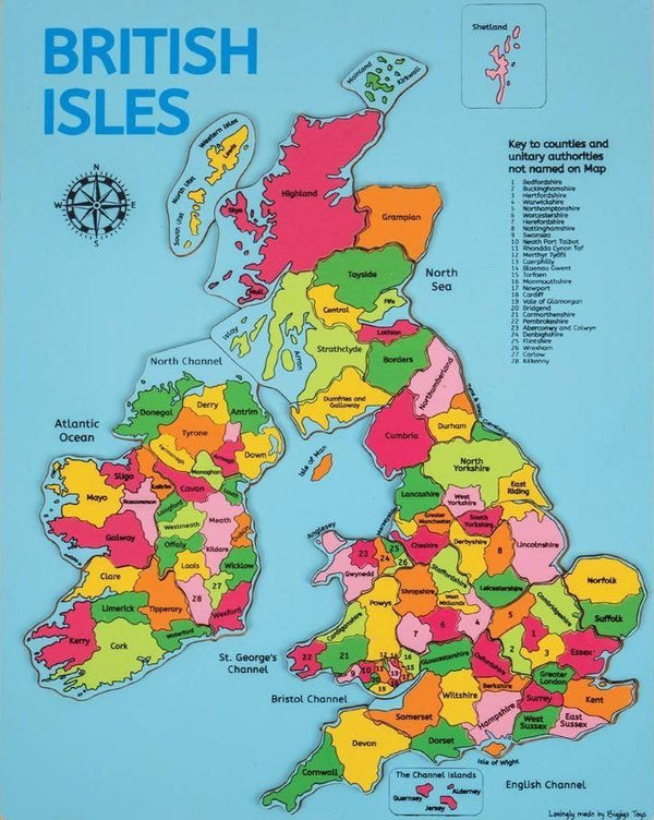 Bigjigs British Isles Inset Puzzle - Scandibørn
