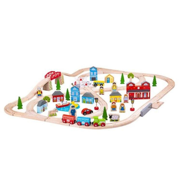 Bigjigs Town and Country Train Set - Scandibørn