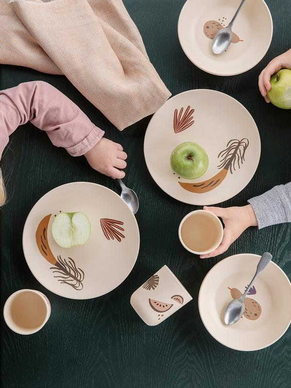 Ferm Living Fruiticana Bamboo Dinner set - Scandibørn
