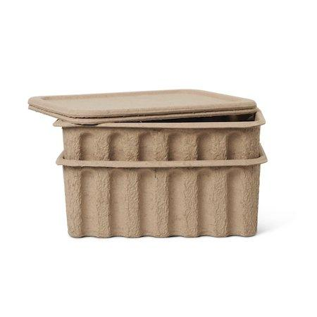 Ferm Living Paper Pulp Box - Large (Set of two) - Scandibørn