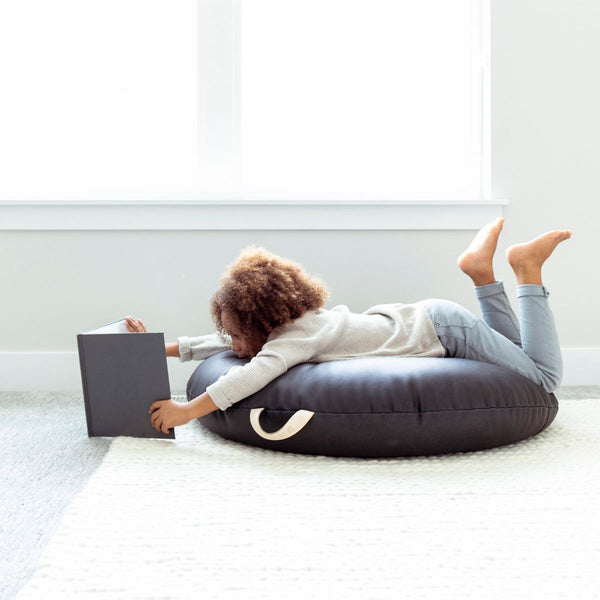 Gathre Large Circular Floor Cushion in Raven - Scandibørn
