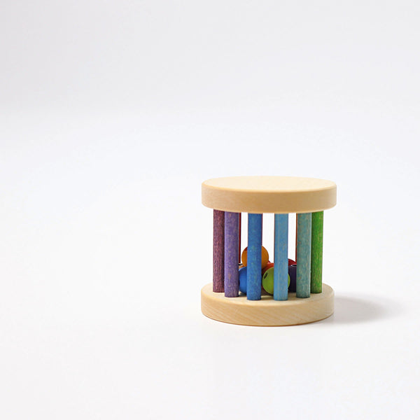 Grimm's Rainbow Rolling Wheel Mini Rattle - Scandibørn