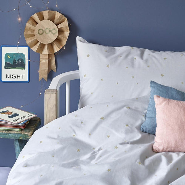 Hibou Home - Starry Sky Organic Bed Linen in Grey - Scandibørn