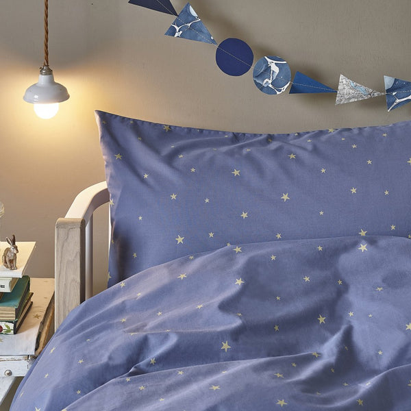 Hibou Home - Starry Sky Organic Bed Linen in Indigo - Scandibørn
