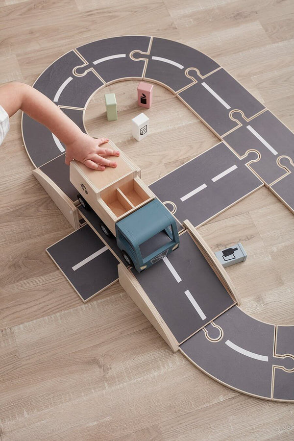 Kids Concept - Aiden Wooden Car Track - Scandibørn