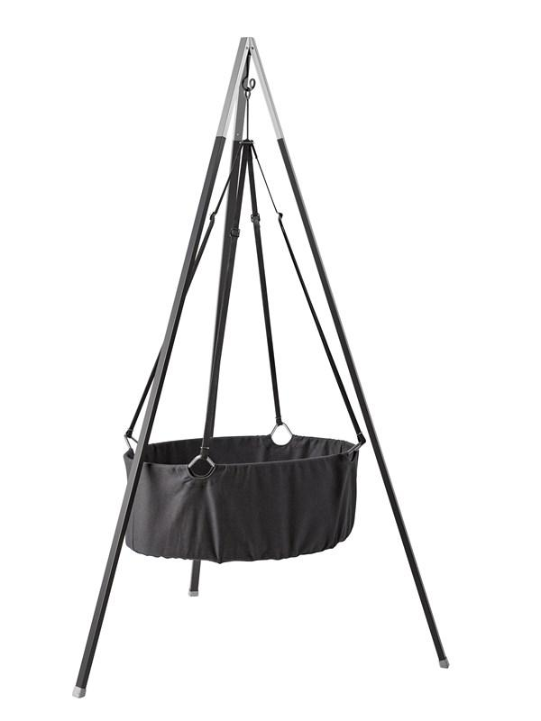Leander Cradle in Grey with Mattress and Hook - Scandibørn