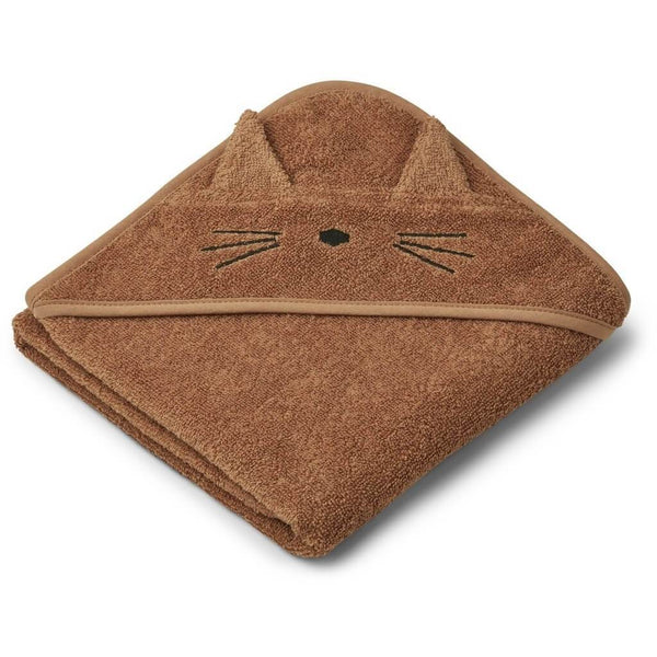 Liewood Albert Baby towel in Cat Terracotta - Scandibørn