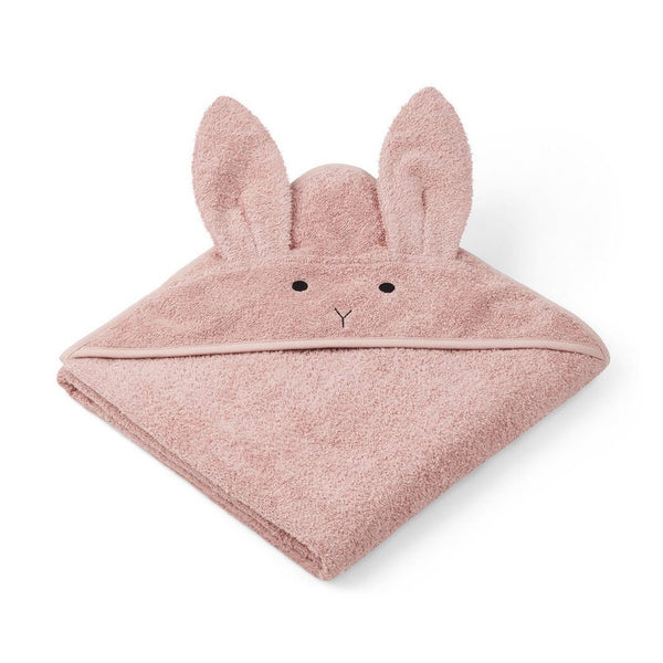 Liewood Augusta Hooded Towel Rabbit Rose - Scandibørn