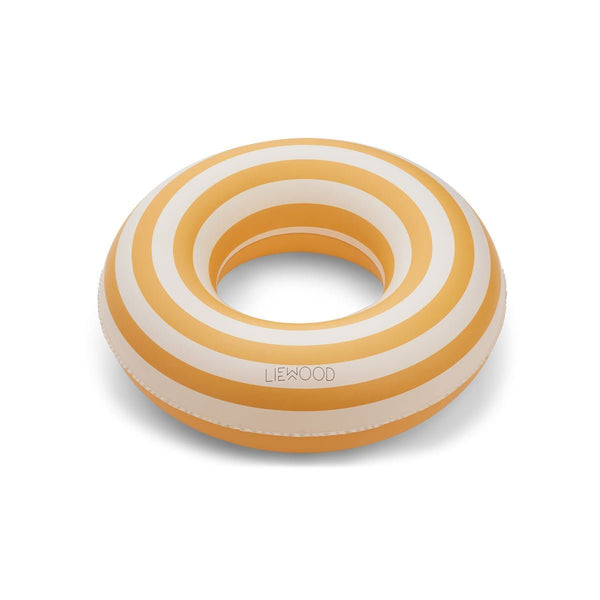 Liewood Baloo Swim Ring in Stripe: Yellow Mellow / Creme de la Creme - Scandibørn