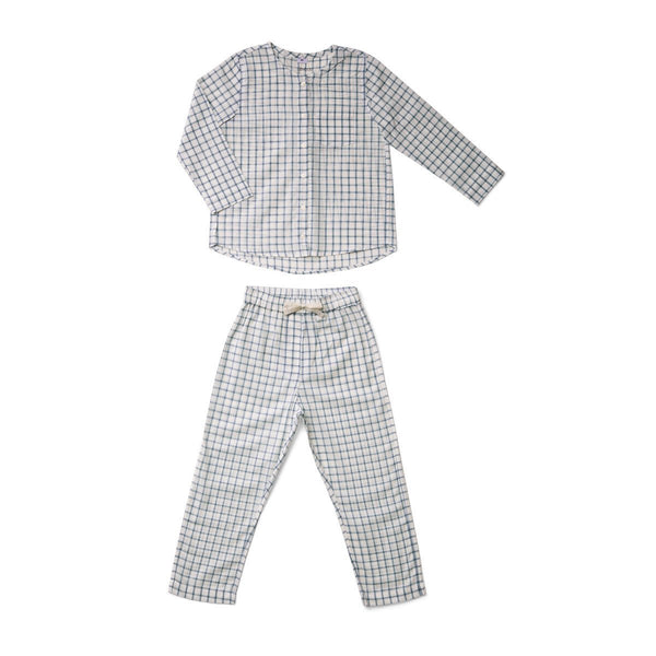 Liewood Olly Pyjamas Set Blue Wave/Creme - Scandibørn
