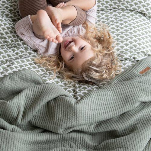 Little Dutch Cot Bedding in Sunrise Olive - Scandibørn