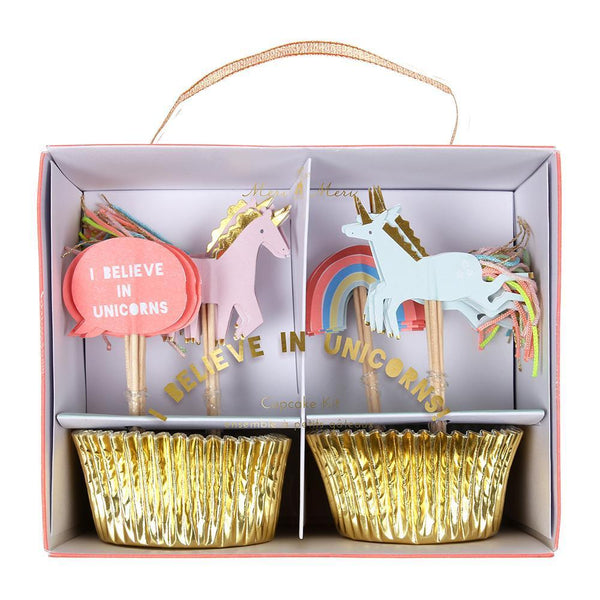 Meri Meri Cupcake Kit I Believe In Unicorns - Scandibørn