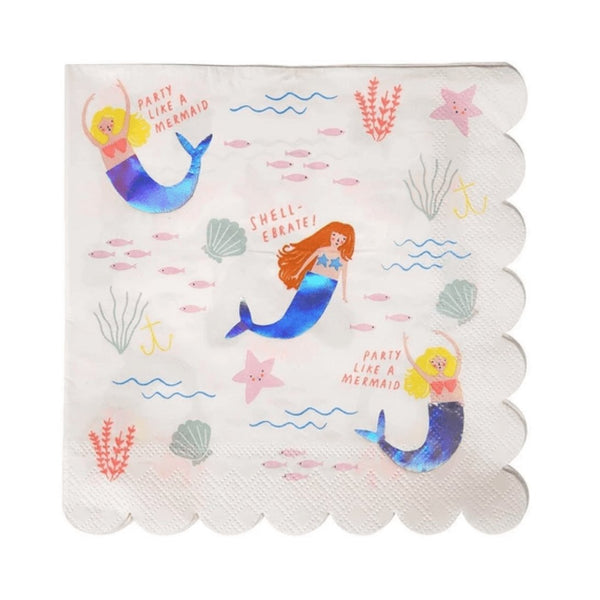Meri Meri Mermaid Napkins - Scandibørn