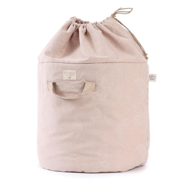 Nobodinoz Bamboo Toy Bag in White Bubble / Misty Pink - Scandibørn
