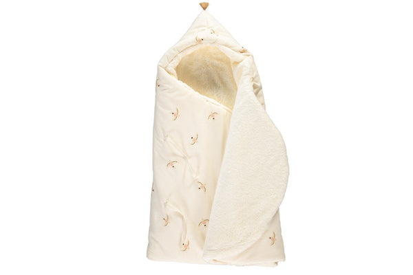 Nobodinoz Cosy Baby Nest Wrap/Bag in Haiku Birds - Scandibørn