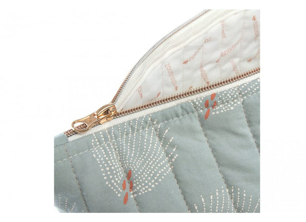 Nobodinoz Paris Maternity bag - Gatsby White / Antique Green - Scandibørn