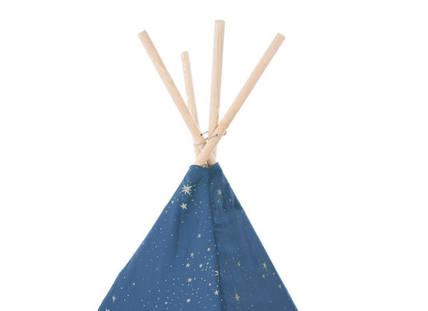 Nobodinoz Phoenix Teepee in Gold Stella / Night Blue - Scandibørn