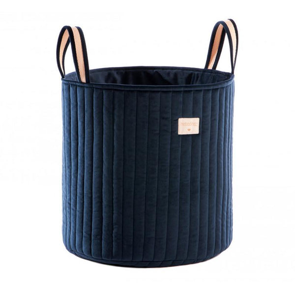 Nobodinoz Savannah Velvet Toy Bag in Night Blue - Scandibørn