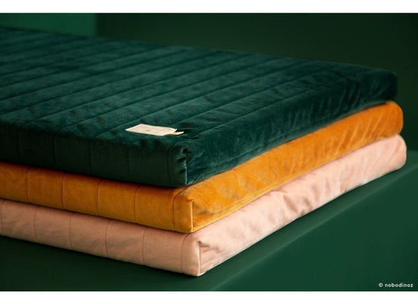 Nobodinoz Zanzibar Velvet Mattress in Jungle Green - Scandibørn