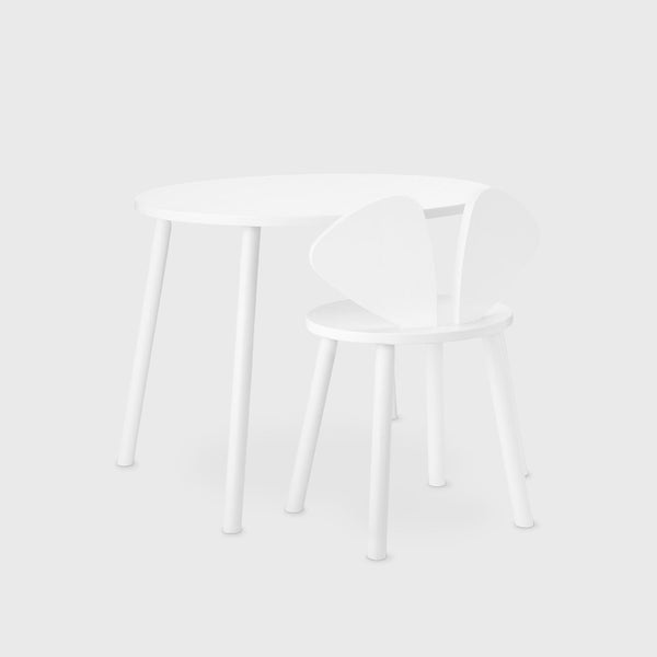 Nofred Mouse School Table in White (6-10 Years) - Scandibørn