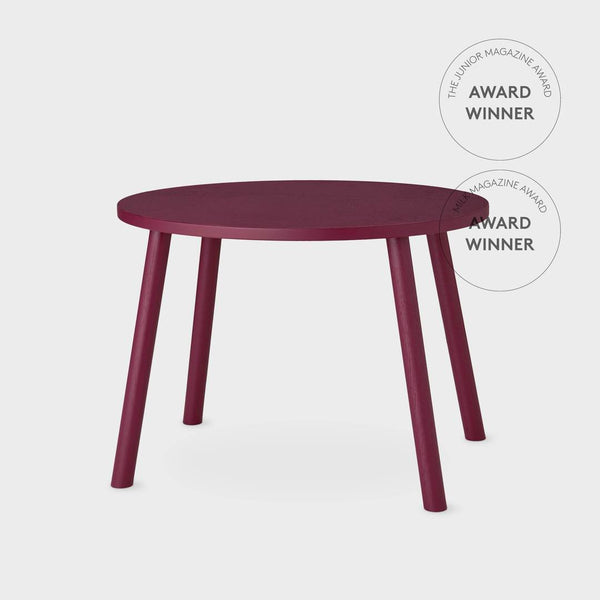 Nofred Mouse table in Burgundy (2-5 years) - Scandibørn