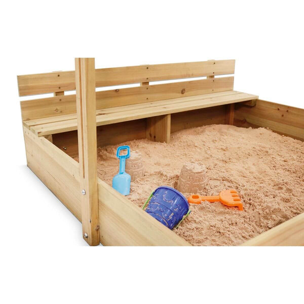 Plum Play Wooden Sand Pit with Canopy - Scandibørn