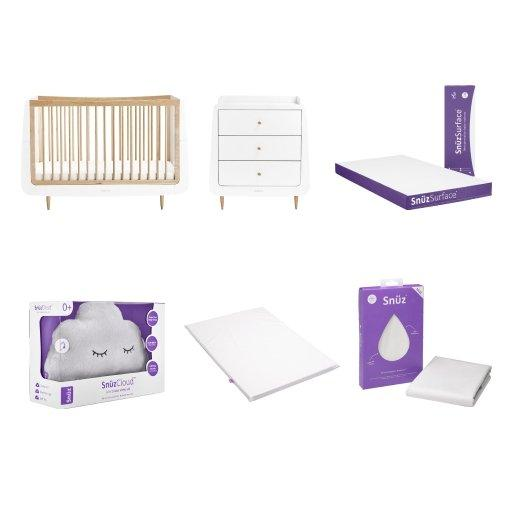 SnuzKot Cot Bed & Changing Table Natural Bundle - Scandibørn