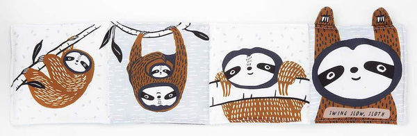Wee Gallery Soft Book - Swing, Slow Sloth - Scandibørn