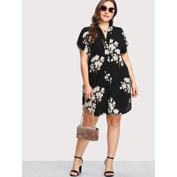 Button Up Shirt Dress - SkyeClothes
