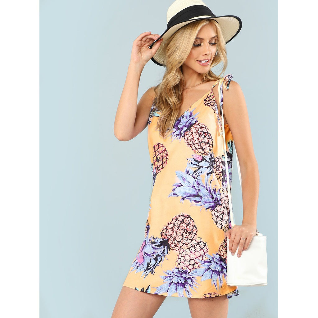 Pineapple Print Cami Dress - SkyeClothes